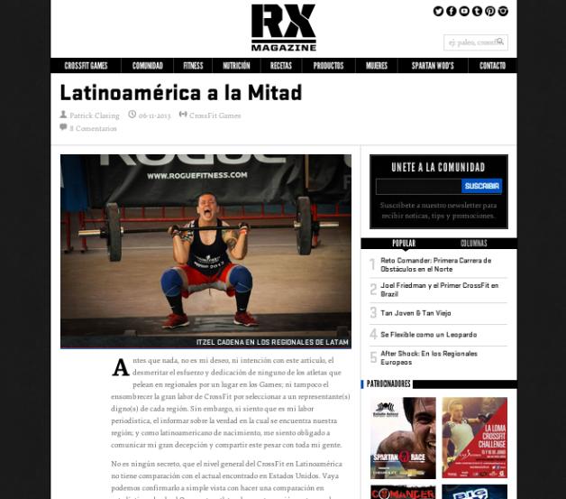 Artículo en RX Magazine